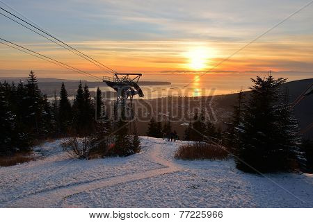 Grouse Mountain Winter Sunset