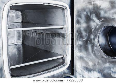 new open vacuum oven close up