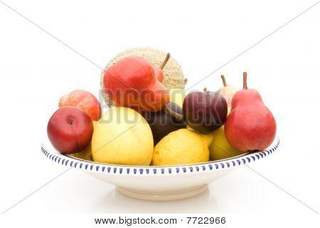 Placa con frutas
