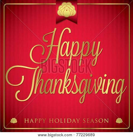 Typographic Elegant Thanksgiving Card In Vector Format.