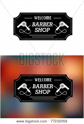 Barber Shop sign with hairdryers