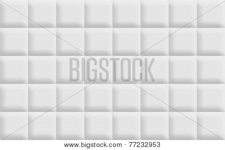 3D white tiles background