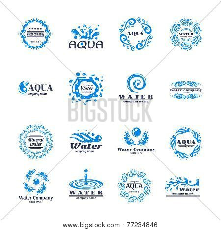 Water logo set
