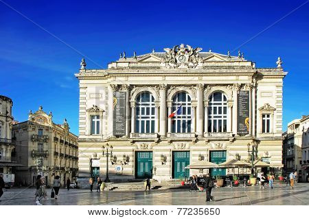 Place De La Comedie - Theater Square Of Montpellier