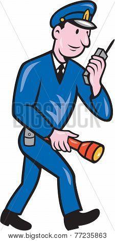 Policeman Torch Radio Cartoon