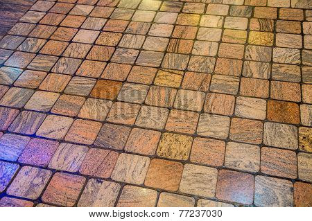 Stone Tile Floor Background