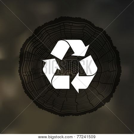 Tree Rings background with Reuse Symbol. Template for annual reports