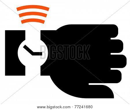 Smart wristwatch icon