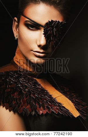Portrait Of Woman With Eyepatch