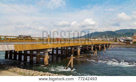 Uji Bridge in Kyoto Japan