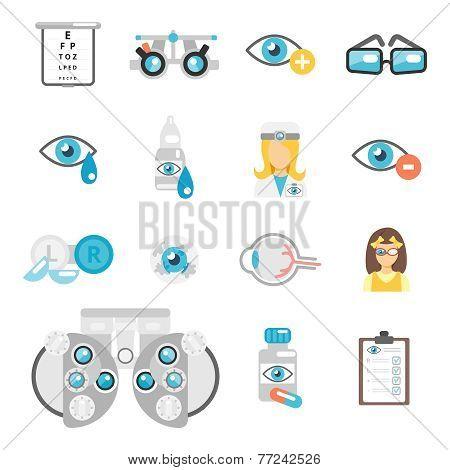 Oculist flat icons