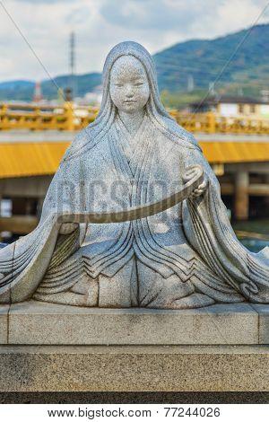 Murasaki Shikibu statue in Kyoto Japan