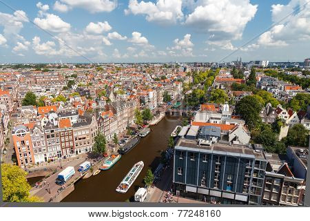 View Of Amsterdam From ? Height.