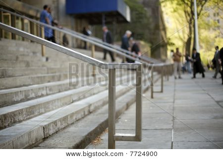 People On Courthouse Steps
