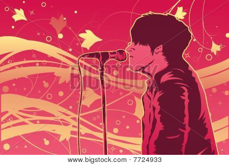 The Singer On The Stage