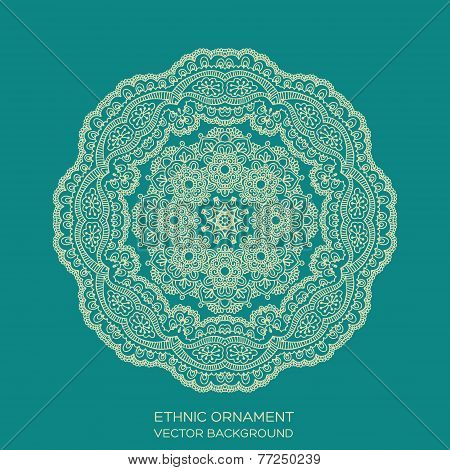 Circle Lace Ornament, Mandala