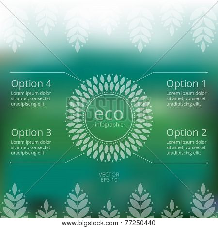 Vector Web And Mobile Eco Template With Infographic For Design