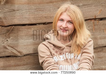 Portrait of smiling girl looking at camera