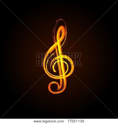 Music notes background, easy editable