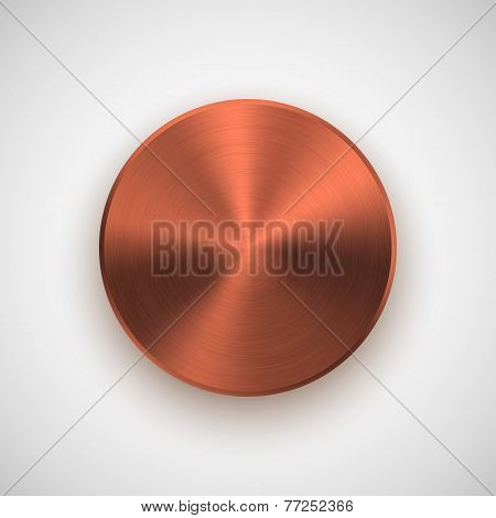 Bronze Gold Abstract Circle Button Template