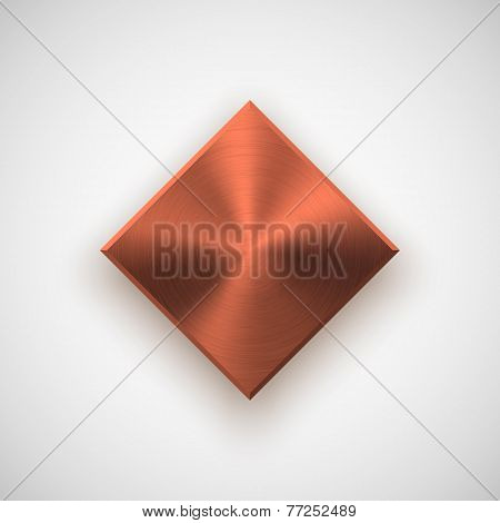 Bronze Abstract Rhombic Button Template