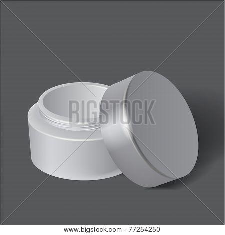 Template white box for cosmetics