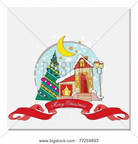 card with Christmas