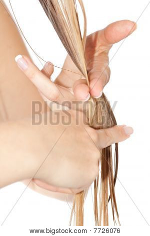 Woman cutting hair
