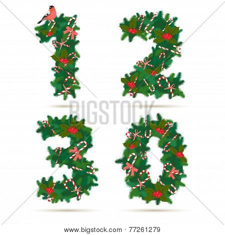 Christmas festive wreath numbers