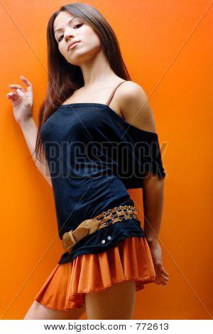 Prinzessin in orange