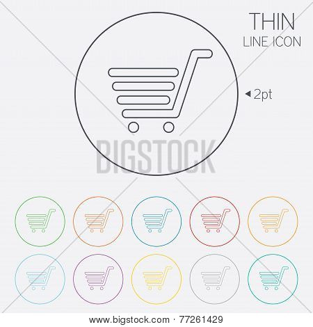 Shopping Cart sign icon. Online buying button.