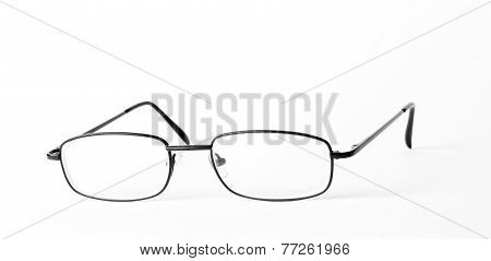 glasses on white