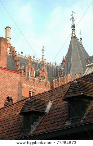 Medieval architecture in the city of Bruges