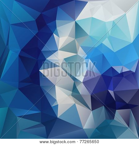 Vector Polygonal Background With Irregular Tessellations Pattern Blue Colors - D