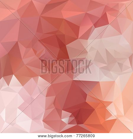 Vector Polygonal Background With Irregular Tessellations Pattern In Orange Color