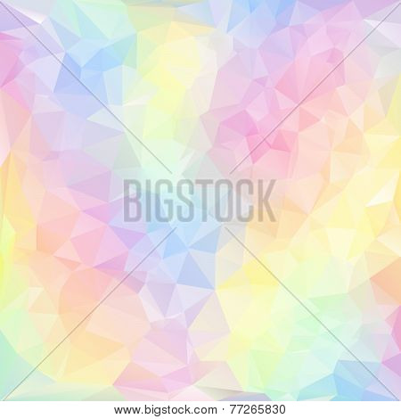 Vector Polygonal Background With Irregular Tessellations Pattern In Pastel Color