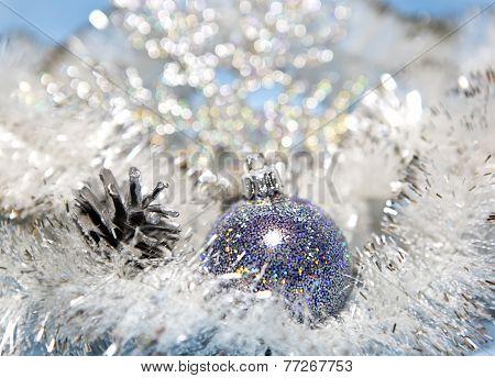 Dark blue New Year's ball.