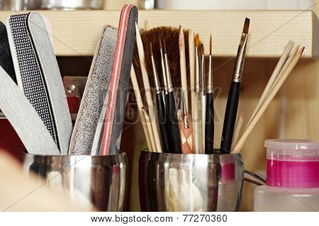 Tools In Nail Studio