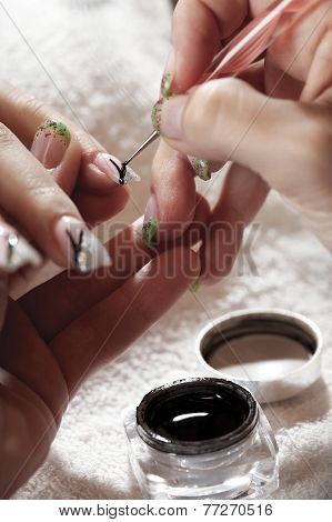 Making Nails - Close Up Of Work