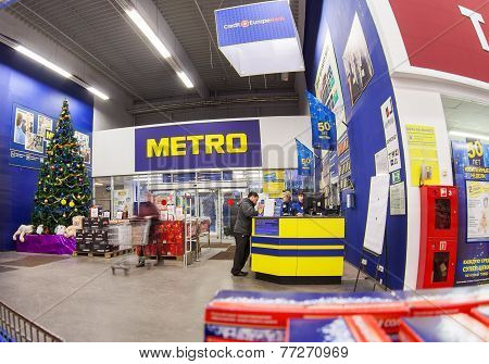 Interior Of The Hypermarket Metro