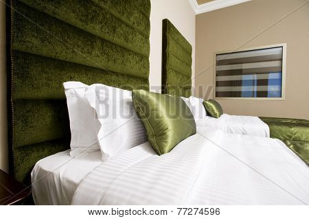 5 stars luxury hotel room, luxurious bedroom in a hotel