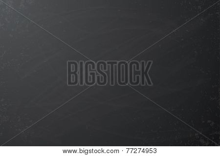 Black chalkboard background Grunge vector texture