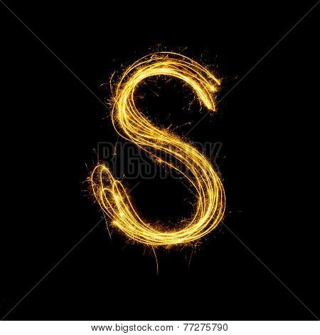 Sparkler Firework Light Alphabet S.