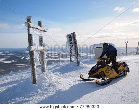 Snowmobile In Finland