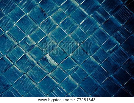 Fashion Blue Leather Texture With Green Reflex