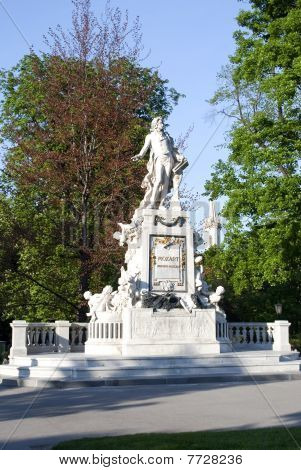 The Monument To Mozart In Vienna