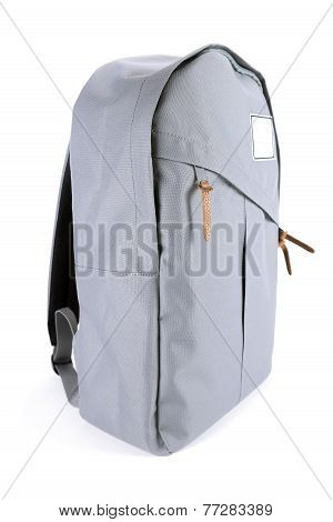 New closed backpack isolated on white