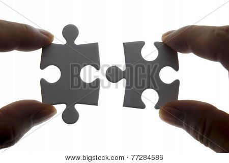 puzzle piece coming down into it's place