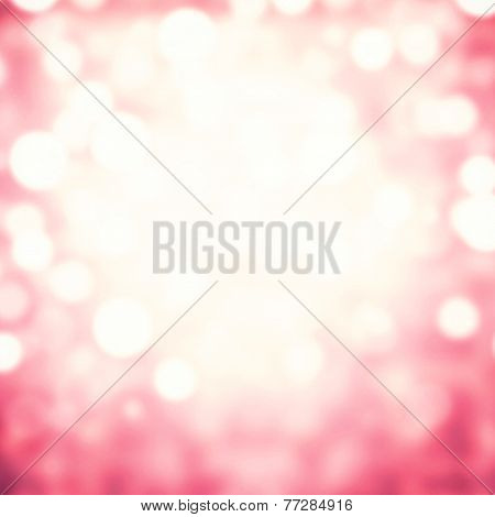 Abstract Blur Boke Background With Natural Bokeh Defocused Lights. Holiday Party Background With Blu