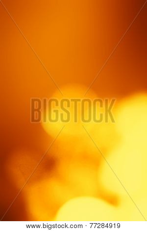 Dark Abstract Blur Boke Background With Natural Defocused Lights. Holiday Party Background With Blur